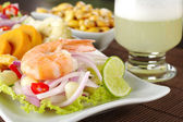 Peruvian Ceviche with King Prawn — Stock Photo