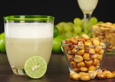 Pisco Sour and Roasted Corn — Stock Photo