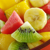 Tropical Fruit Mix (Kiwi, Mango, Banana, Melon) — Stock Photo
