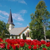 Church in Grimstad, Norway — Stock Photo