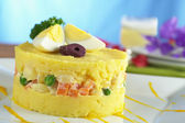 Traditional Peruvian Dish Called Causa — Stock Photo