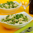 Pasta with Green Vegetables — Stock Photo