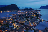 Aalesund at Night — Stock Photo