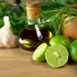Limes and Other Seasonings - Stockfoto