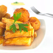 Fried Snacks out of Manioc — Stock Photo