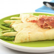 Asparagus in Crepes — Stock Photo