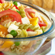 Pasta Salad with Fresh Vegetables - Stock Photo