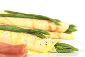 Green Asparagus in Crepes — Foto Stock