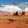Stock Photo: Storm clouds gather over Monument Valley