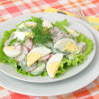 Stock Photo: Salad with egg