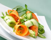 Zucchini salad with carrots — Stock Photo