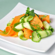 Zucchini salad with carrots - Stock Photo