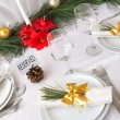 Stock Photo: Serving New Year or Christmas table