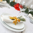 Stock Photo: New Year or Christmas table close-up