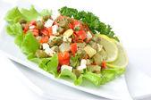 E insalata con capperi peperoni — Foto Stock