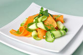 Zucchini salad with carrots — Stok fotoğraf