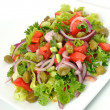 Vegetable salad with capers - Stockfoto