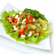 Salad with peppers and capers — Stock Photo