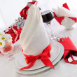 Serving holiday table — Foto de Stock