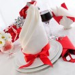 Serving holiday table - Stock Photo