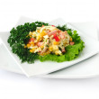 A salad of corn and Chinese cabbage — Foto Stock