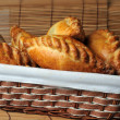 Stock Photo: Pies in basket
