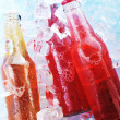 Bottles with drink — Stock Photo