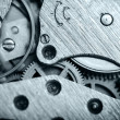 Watch mechanism very close up — Stockfoto
