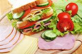 νόστιμα σάντουιτς — 图库照片