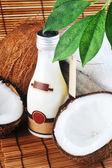 椰子和按摩油 — 图库照片