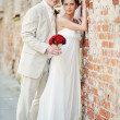 Groom and bride — Stock Photo #4609326