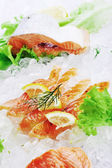 Red fish on ice — Stock Photo