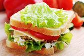 Sandwich mit schnitzel — Stockfoto