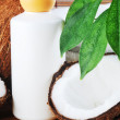 Coconut and massage oil — Stock Photo #5031602
