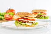 Hamburger con cotoletta — Foto Stock