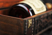 Cognac bottle — Stock Photo