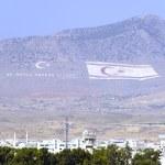 enormes banderas del norte de Chipre y Turquía — Foto de Stock