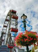 Wiener Riesenrad (Vienna Giant Ferris Wheel) — Stock Photo
