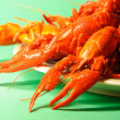 Crayfishes on a plate — Stock Photo