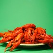Plate full of crayfishes — Stock Photo