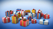 Colored gift boxes — Stock Photo
