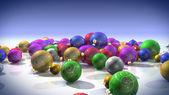 Colored bulbs — Stock Photo