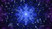 Snowflakes light strokes — Stock Photo