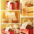 Collage of various gifts — Foto Stock