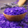 Stock Photo: Bath salt and lavander