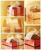 Koláž různých dárků — Stock fotografie