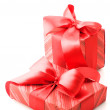 Red gifts - Foto Stock