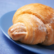 Croissant on plate - Stock Photo