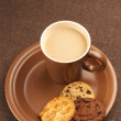 Royalty-Free Stock Photo: Various cookies and coffee