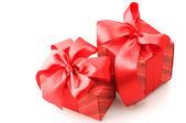Presentes vermelhos — Fotografia Stock
